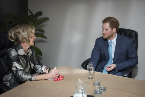 Prince Harry in a meeting with Ambassador Deborah Birx of PEPFAR Photo©International AIDS Society/Steve Forrest/Workers' Photos